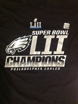 a5cd0c9f6 Philadelphia Eagles Adult Medium M Super Bowl LII Championship t-shirt NFL  NEW