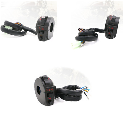 "2 PCS High/Low Beam Light Turn Signal Horn Switch fit 7/8"" (22mm) handlebar"