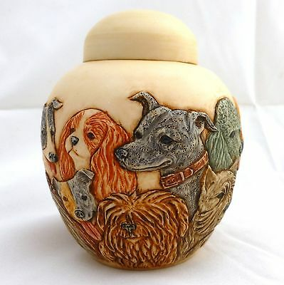 Puppy Litter - Jardinia - NIB - Dog / Puppy Trinket Pot - MPS Harmony Kingdom
