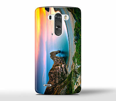 Romantic Lonely Beach Ocean Sunset Sea - Hard Phone Case Cover Fits LG G Models