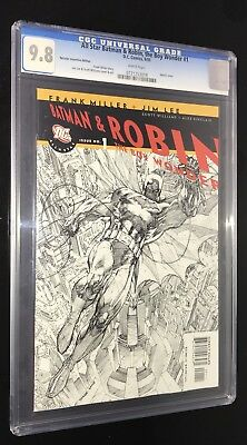 All Star Batman & Robin #1 CGC 9.8 Sketch Cover Jim Lee & Frank Miller PROTECTOR