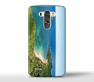 Lonely Beach Shore Forest Ocean Sea - Hard Phone Case Cover Fits LG G Models