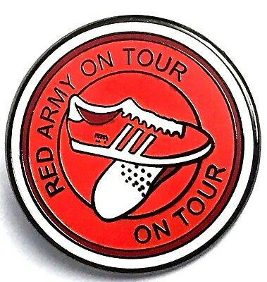 United Pin Badge Red Army On Tour Manchester Gifts
