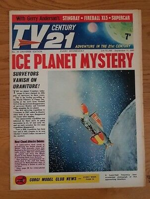 TV Century 21 universe edition 34 1965 comic VF  Daleks/Stingray/Fireball XL5