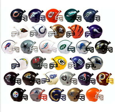 MINI NFL FOOTBALL HELMETS, COLLECTIBLE COMPLETE SET OF ALL 32 TEAMS Fast Ship
