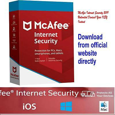 McAfee Internet Security 2019 / 1 Device/ 10 months licence