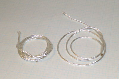 """Silver Plated Copper Braid Wire 14Awg  40"""" x 3 Pcs   Free Ship   (K2)c"""