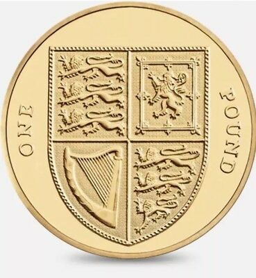 1£ Old Coin Royal Arms Shield One Pound