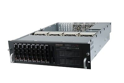 SUPERMICRO CSE-833T-653B 3U RACKMOUNT 650W 80Plus 8 x Hot-Swaps Server CHASSIS