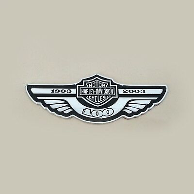 3D Metal 100th Anniversary Emblem / Badge For Harley Davidson Body Tank Trunk