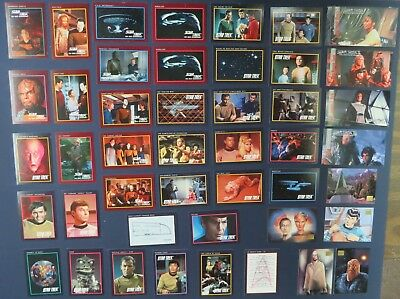 Lot of 45 Assorted Star Trek Trading Cards Impel Playmates Skybox 1991 1994 1995