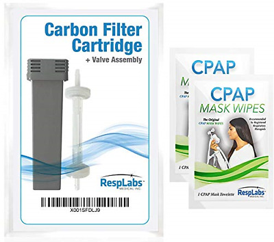 RespLabs Generic Cartridge Carbon Filter Kit and Check Valve Assembly - Includes