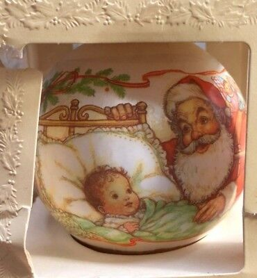 Baby's First 1st Christmas 1980 Ornament Hallmark In Box