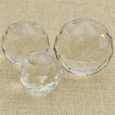 Clear Feng Shui Hanging Faceted Crystal Ball Sphere Prism Rainbow Sun Pendant