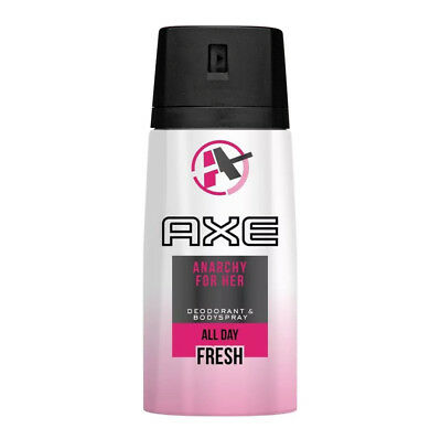 2 AXE Anarchy for HER Deodorant Bodyspray Women Body Spray 150ml / 5.7oz each