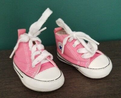 be1d8f14a28a89 CONVERSE NEWBORN CRIB Booties Black 8J231 First All Star Baby Shoes ...