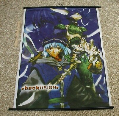 Hack / Sign Anime Series Large Cloth Fabric Poster / Banner. 42 x 30 inches