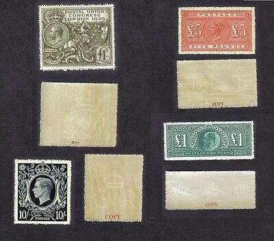 Queen Victoria & Kings High Values Set.  (Sg137,320,438 &478 Forgeries)