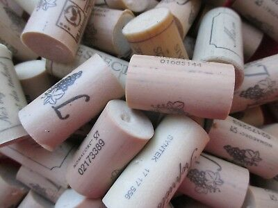 25 X Bouchon De Vin Utilise Synthetique  / Used Bottle Wine Cork Synthetic