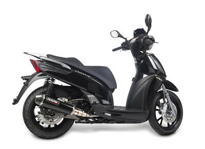 Exhaust maxiscooter 4 stroke black carbon - KYMCO PEOPLE S E3 I GT - Yasuni (Pe)