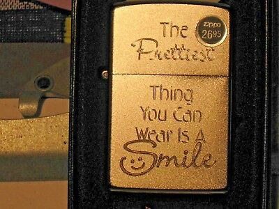 New USA ZIPPO Windproof Lighter 7272 The Prettiest Thing You Can Wear is a SMILE
