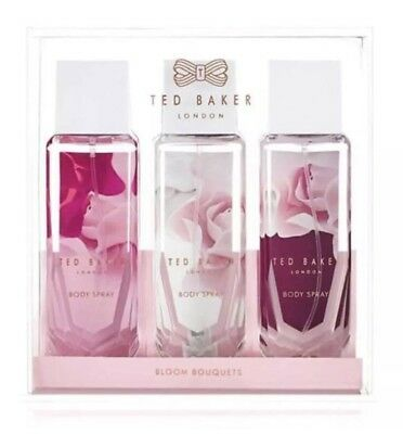 Ted Baker London Bloom Bouquet Body Spray Collection Gift Trio Set Box New