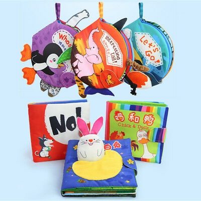 Baby Animal 3D Cloth Book Infant Intelligence Development Toy Story Educational