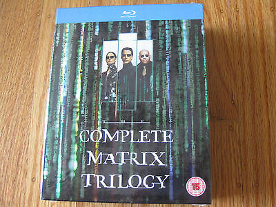 The Complete Matrix Trilogy (Blu-ray, 1999)  Region Free