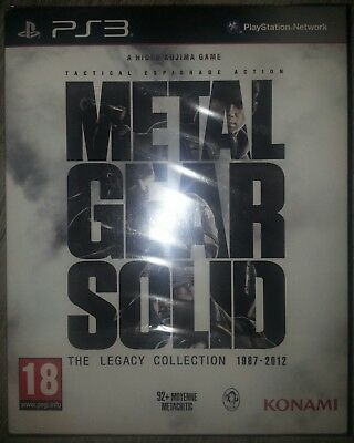 METAL GEAR SOLID the legacy collection 1987-2012 PS3 EN VERSION FRANÇAISE