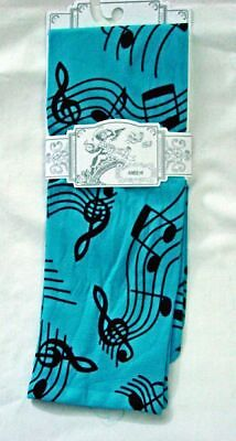 Musica Sox Trot Thin Knee High Turquoise New Women's Size 9-11 No Heel Fashion