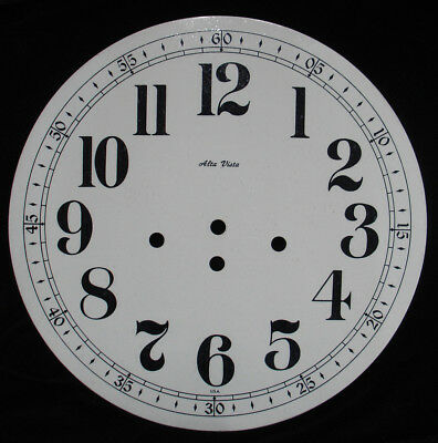 """New 11-1/8"""" Metal Clock Dial with 3 Key Winding Holes (C-603)"""