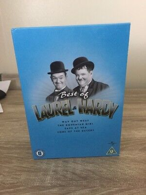 The Best Of Laurel And Hardy  Dvd Box Set 4 Discs Dvds / Films + Shorts
