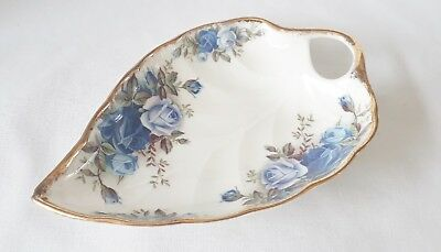 Royal Albert Moonlight Rose Dish - 1st Quality Leaf Shaped Dish