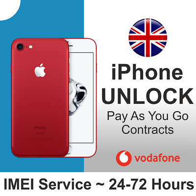 Unlock Apple Iphone 6 Plus 7 + 8 Se 5 Factory Vodafone Uk Unlocking 100% Service
