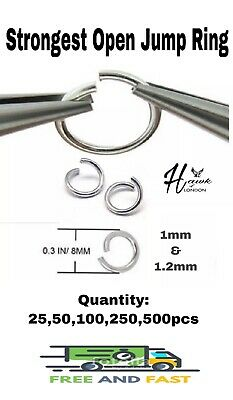 8mm Open Jump Rings Link Loops for DIY Jewelry Making Connector strongest 1.2mm