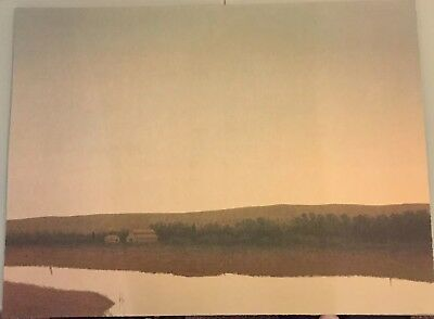 RUSSELL CHATHAM Pencil Signed SUNRISE OVER FARM Numbered LITHOGRAPH 1 of 375