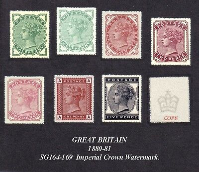 Queen Victoria 1880-81 Set of 7 (forgeries)