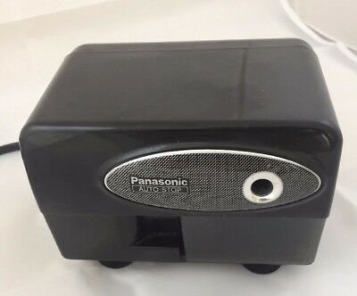 Panasonic Electric Pencil Sharpener Model KP-310 with Auto-Stop, Black School