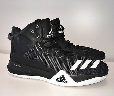 detailed pictures 82008 70a1b New Adidas DT Dual Threat Basketball Shoes Mens Size 9 BlackWhiteGray  AQ7288