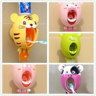 Device Toothbrush Holder Extrusion Cartoon Toothpaste Squeezer Automatic
