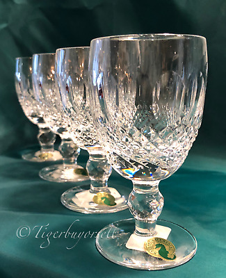 Waterford Colleen Crystal White or Claret Wine Glasses Set of 4 NIB Ireland