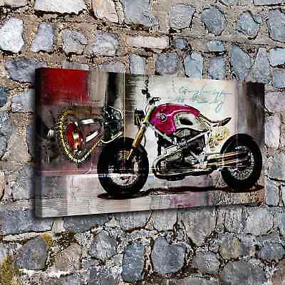 """12""""x24""""Abstract Motorcycle HD Canvas print Painting Home Decor Picture  Wall art"""