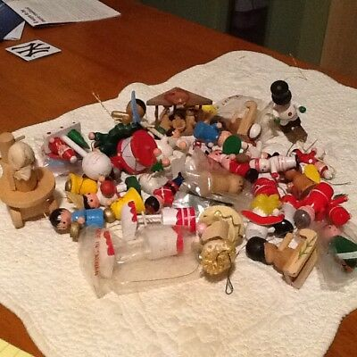 Lot of Vintage Wood Ornaments great mix