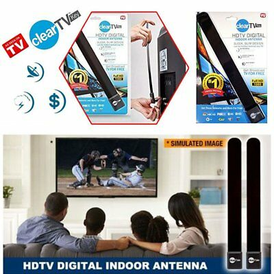 Clear HD TV KEY FREE HDTV Digital TV Indoor Antenna Ditch Cable As Seen On TV