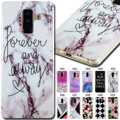 For Samsung Galaxy Fashion TPU Soft Case Cover Back Painted Rubber Various Skin