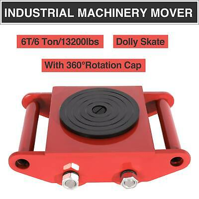 Heavy Duty Machine Dolly Skate Machinery Roller Mover Cargo Trolley 6 Ton bib