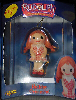 Misfit Doll Ornament Rudolph Island of Misfit Toys  Rare