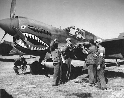 WW2 WWII Photo Flying Tigers P-40 Kunming China 1943 World War Two / 5373