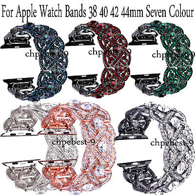 Crystal Bracelets Wristwatch Bands Wrists Straps For Apple Watches Bands 40 44mm