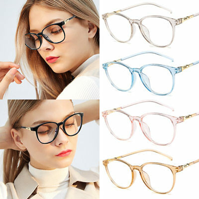 Women's Flat Mirror Glasses Clear Lens PC Frame Classic Party Sunglasses Girls